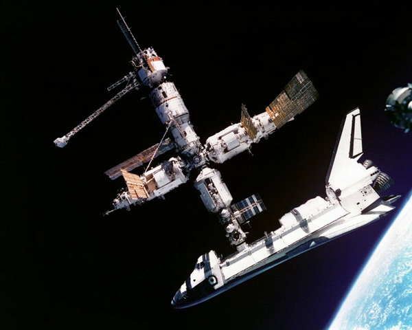Soviet space station Mir view photo